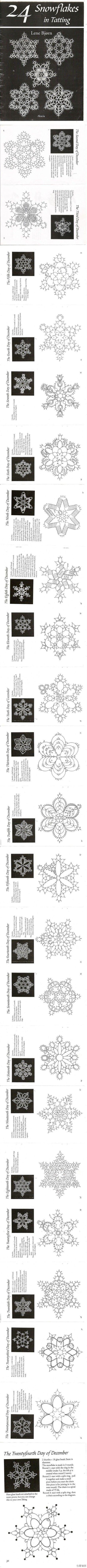 Snowflakes patterns