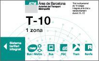 Price T-10 tickets Barcelona metro bus | Transports Metropolitans de Barcelona