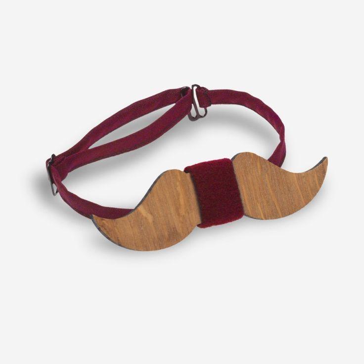 Бабочка деревянные усы с вишневой серединкой - купить в Киеве, Одессе, Львове, по всей Украине цена недорогая