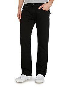Ricky Straight Leg Black W/Flap Jeans