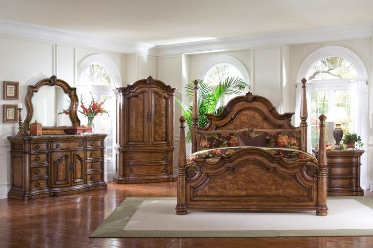 Four poster bedroom sets pulaski san mateo 4 piece - Four poster bedroom sets for sale ...
