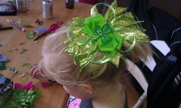 Bows!! My daughter is making and selling these.