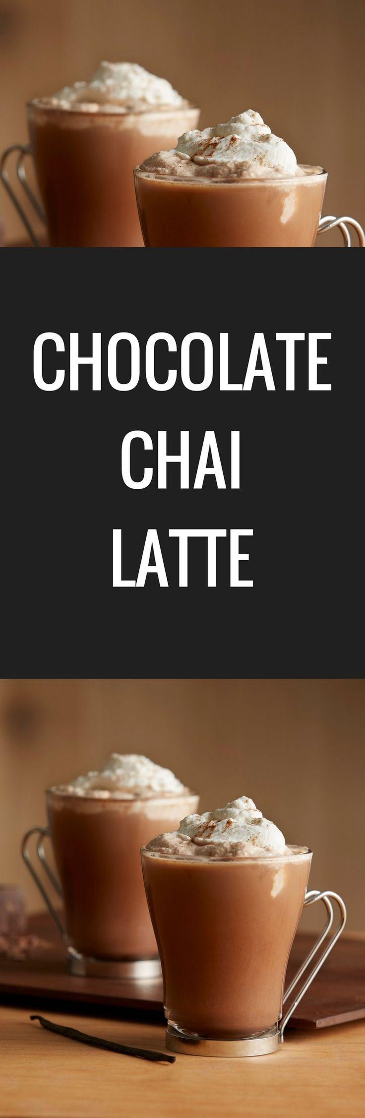 Spiced chai tea, rich chocolate and a dash of vanilla make this Chocolate Chai Latte a new winter favorite.