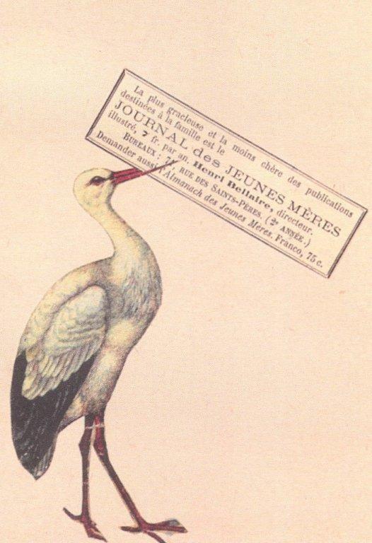 Collage Postcard by Wislawa Szymborska (Journal des Jeunes Meres)