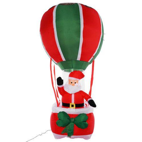 Perfect 240cm Giant Inflatable Christmas Decoration Outdoor Santa Balloon Ride LED  Light #SmartDealsMarket