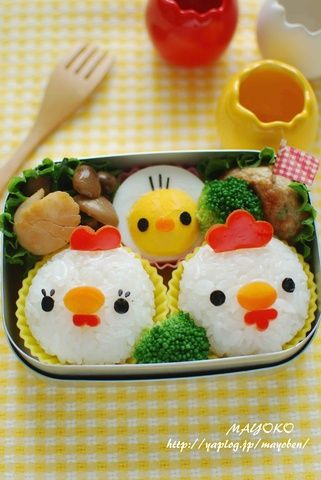 chicken and chick bento