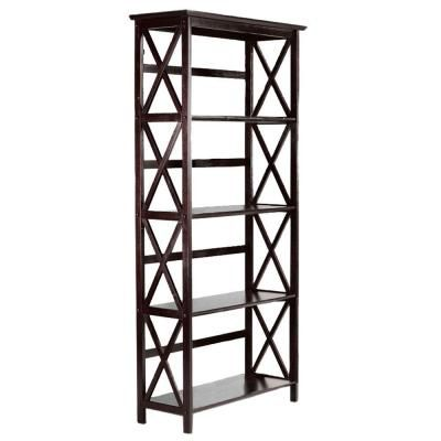 Home Decorators Collection Montego 29.5 in. W High Espresso 4-Shelf Bookshelf-0218410820 - The Home Depot