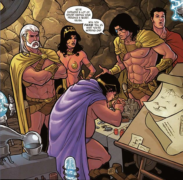 valian invents while dejah thoris and company surround him