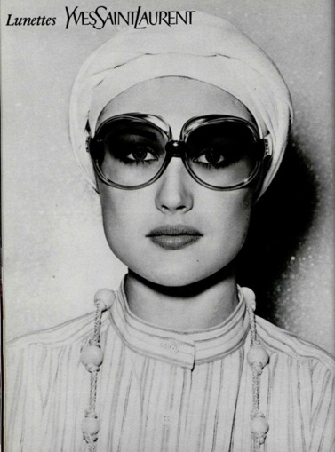 Ysl sunglass ad from the 70s