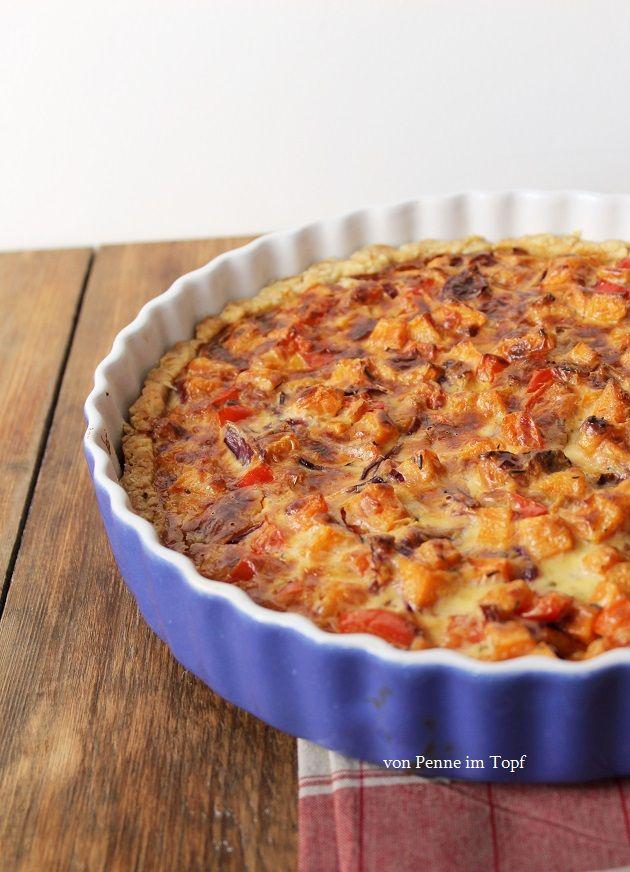 Süßkartoffel - Paprika - Quiche