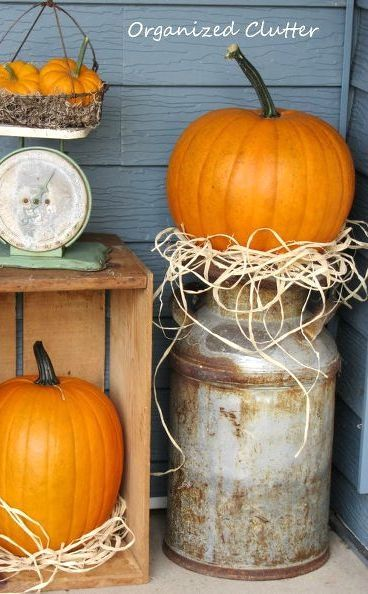s 11 charming things you can do with an old milk can, crafts, Include It in Your Fall Decorations