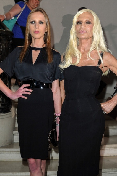 Versace Chairman Responds to Rumors He's Selling His Stake in the Company: PARIS, FRANCE - JULY 02:  Allegra Versace and Donatella Versace arrive at the Christian Dior Haute-Couture show as part of Paris Fashion Week Fall / Winter 2013 on July 2, 2012 in Paris, France.  (Photo by Pascal Le Segretain/Getty Images)