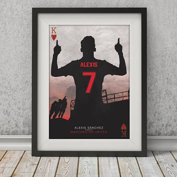Alexis Sanchez - Manchester United   High quality print that can be used to accessorise any Manchester United fans room, simply frame it and you have a magnificent piece of wall decor.