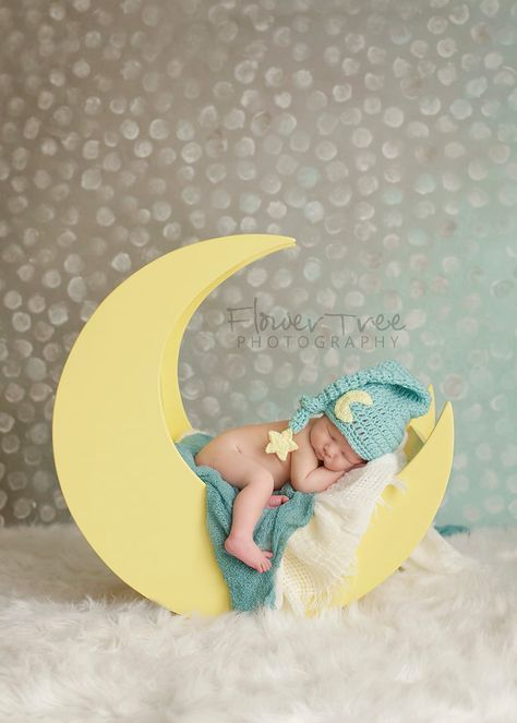 Newborn Moon Hat, Newborn Elf Hat, Newborn Photo Prop, Mr Sandman Hat, Long Tail Hat, Moon And Star Hat, Infant Elf Hat, Baby Hat With Star by VioletsPlayground on Etsy https://www.etsy.com/listing/238890960/newborn-moon-hat-newborn-elf-hat-newborn