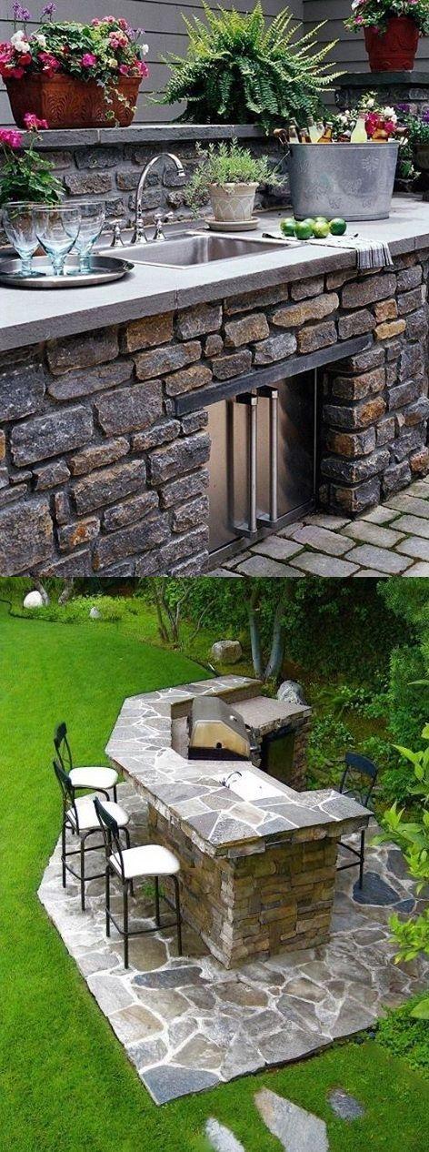 outdoor kitchen design ideas garden pinterest