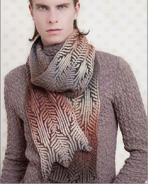 Ravelry: Cathedral pattern by Nancy Marchant - from her book Knitting Fresh Brioche: Creating Two-Colour Twists & Turns