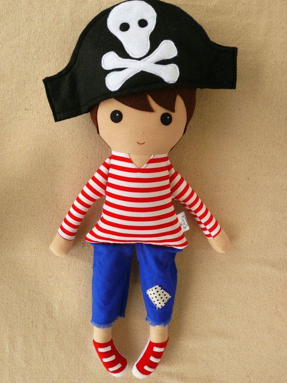 Reserved for Lauren  Fabric Doll Rag Doll Boy by rovingovine