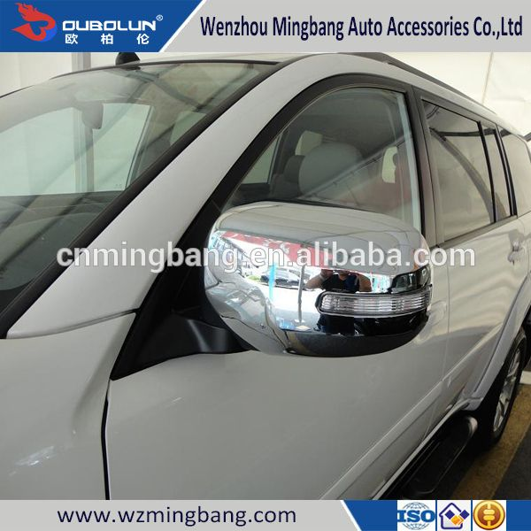 Hot sale for 2013 Mitsubishi Pajero Sport Exterior Accessories High quality ABS chrome car rearview cover side mirror cover