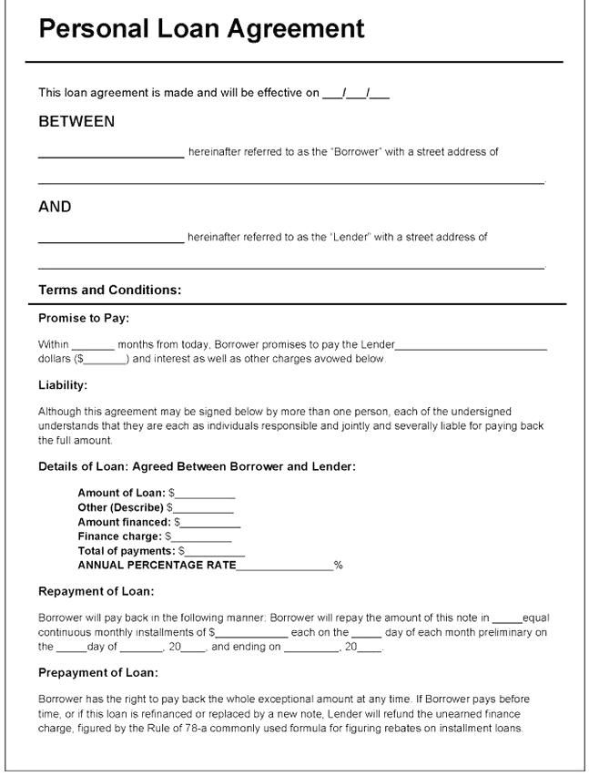 Simple Loan Application Form Template Lovely Download Personal Loan Agreement Template Pdf In 2020 Personal Loans Word Doc Loan Application