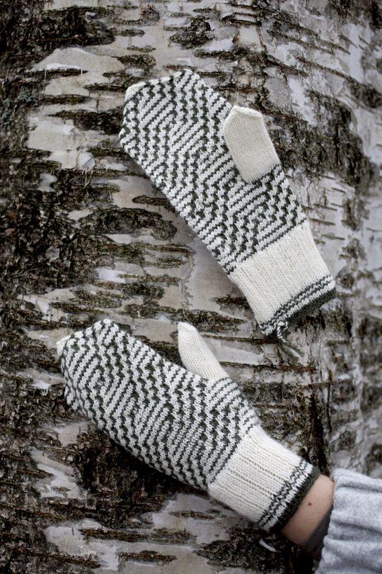 Mönstrade vantar med lyfta maskor Novita Nalle | Novita knits