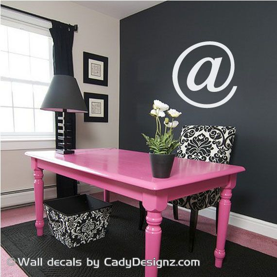 vinyl sign wall decal computer phrase at symbol techie love nerds geeky decals. Black Bedroom Furniture Sets. Home Design Ideas