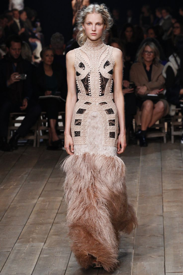 HAHA, get the Fifi the feather duster jokes out of your systems now. Rooney Mara picked the closing look from this collection for the Globes, but the rest of Sarah Burton's babies still need a chance to fly.    - MarieClaire.com
