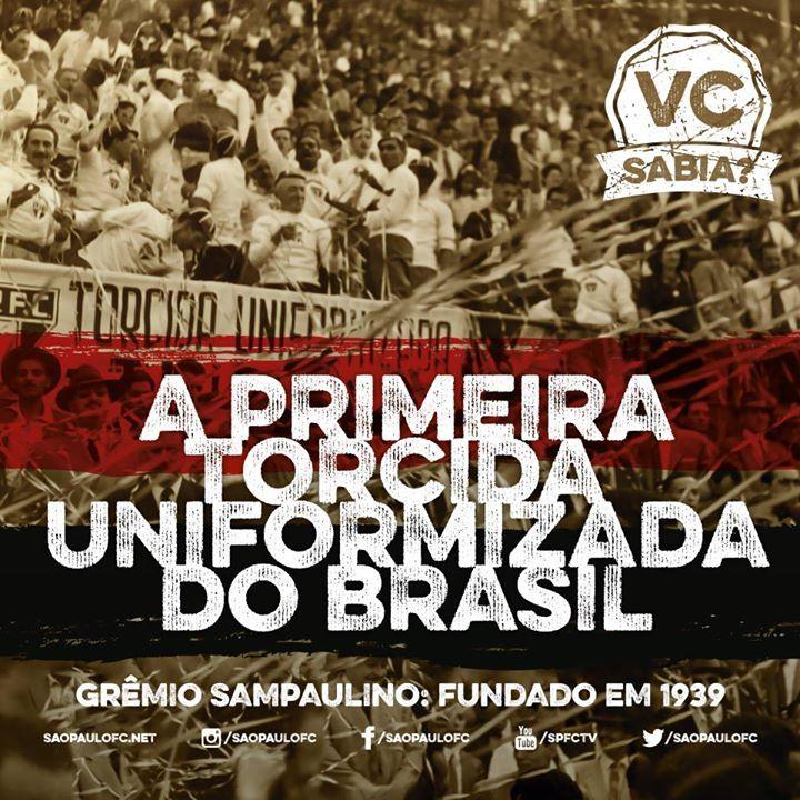 São Paulo FC - Eu sabia, e vocês? #JuntosSomosMaisFortes #Desde1939 #OuAntes (Source: São Paulo FC on Facebook)