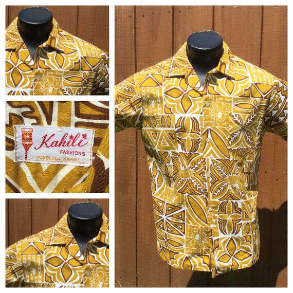 AMAZING  VINTAGE   Kahili Fashions Hawiian Shirt / by bamapana