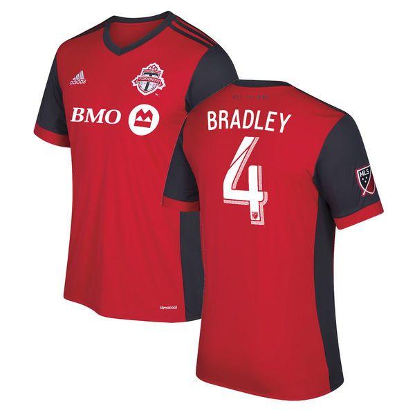 adidas Michael Bradley Toronto FC Youth Red 2017 Primary Replica Jersey - $94.99