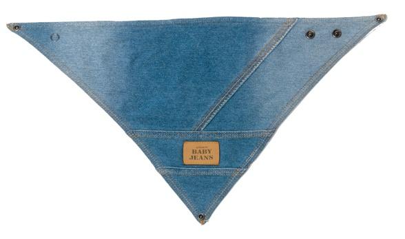 Bavaglino-bandana in spugna e cotone jeans - BabyLike.it - € 15,00
