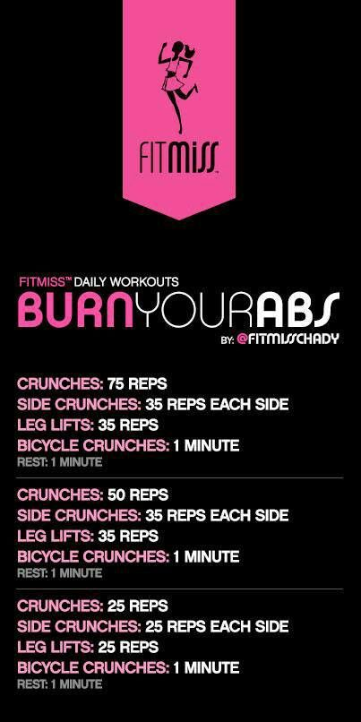 FitMiss abs - this workout cycle looks pretty good