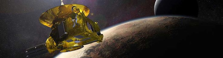 Concept art for NASA's New Horizons mission to Pluto. Image credit: NASA, retrieved from https://blogs.nasa.gov/pluto/.