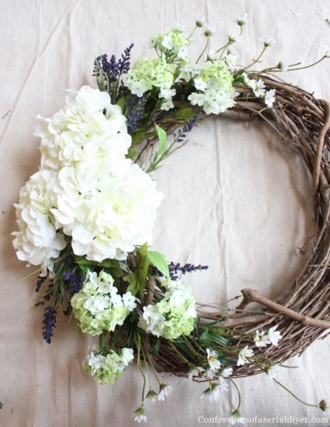 Make a Hydrangea Wreath for Spring                                                                                                                                                                                 More