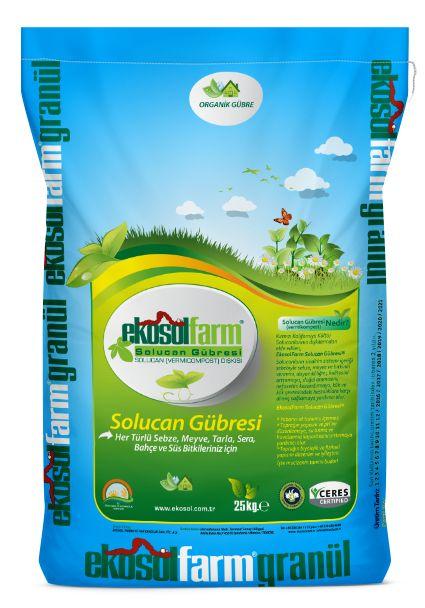 EkosolFarm %100 Solucan Gübresi 25 KG.