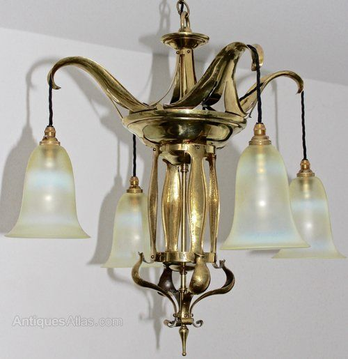 Antiques Atlas - Arts And Crafts Benson Style Brass Chandelier - 33 Best Arts And Crafts Lighting - Antique Lighting Images On