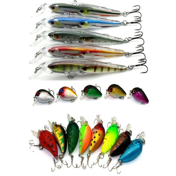 18pcs hard plastic minnow crankbaits wobbler pike carp trout perch catfish fishing baits isca de pesca fishing tackles