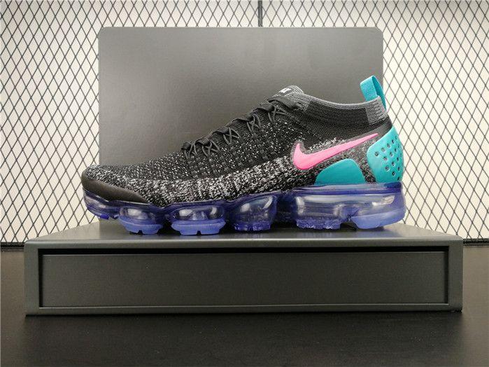 0d22c755c93 Nike Air VaporMax 2.0 Flyknit 942842-003 Mens Sneakers Black Blue Pink Grey