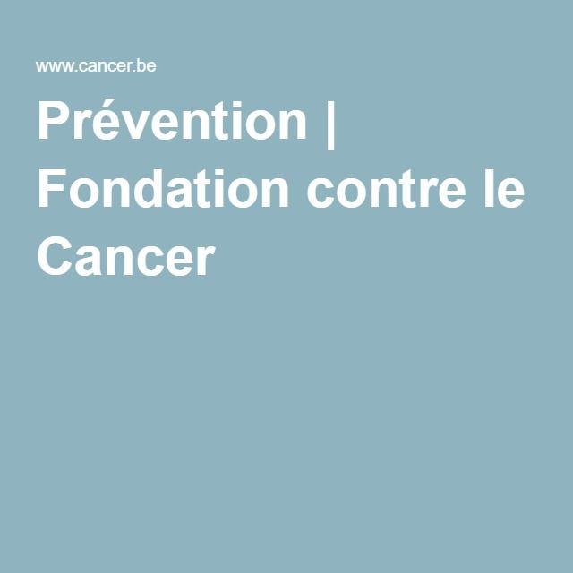 Prévention | Fondation contre le Cancer