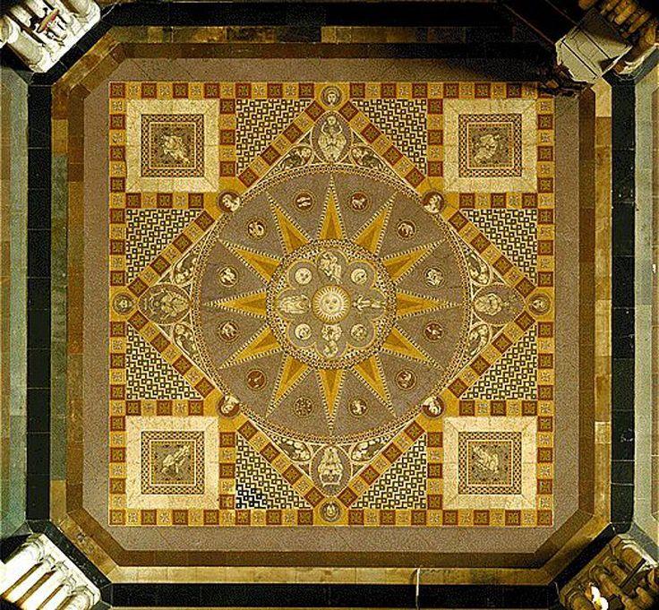 El mosaico geométrico de la Catedral gótica de Colonia, Alemania.   Matemolivares