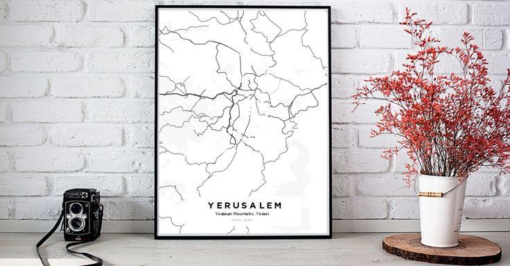 Yerusalem | Custom Map Maker – Make Your Own Map Poster Online - YourOwnMaps