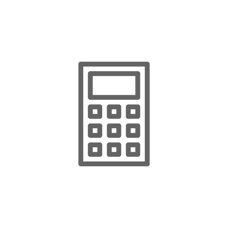 Calculator icon calculator finance accounting icon