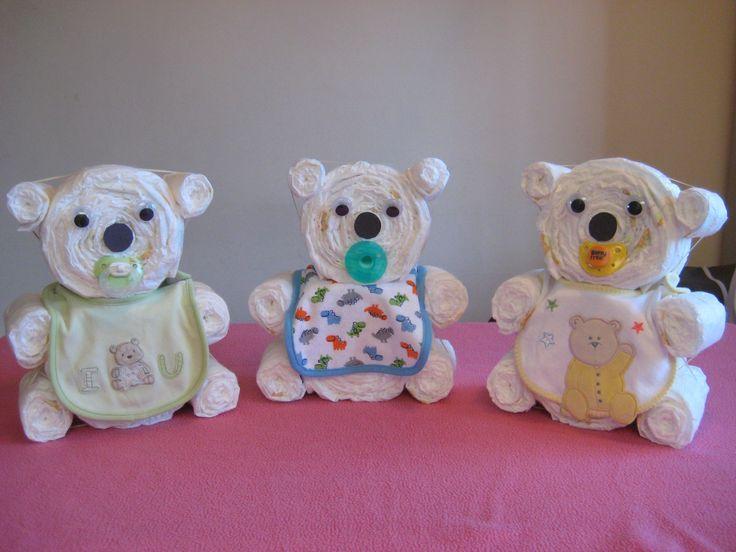 Teddy Bear Diaper cakes
