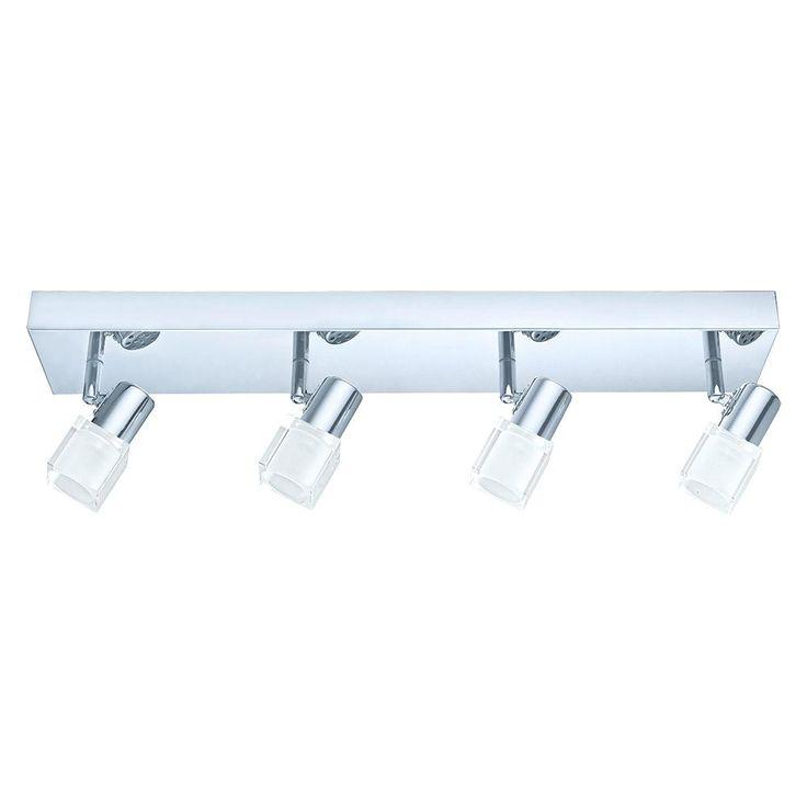 Eglo Nocera 1.97 ft. Chrome Integrated LED Track Lighting Kit