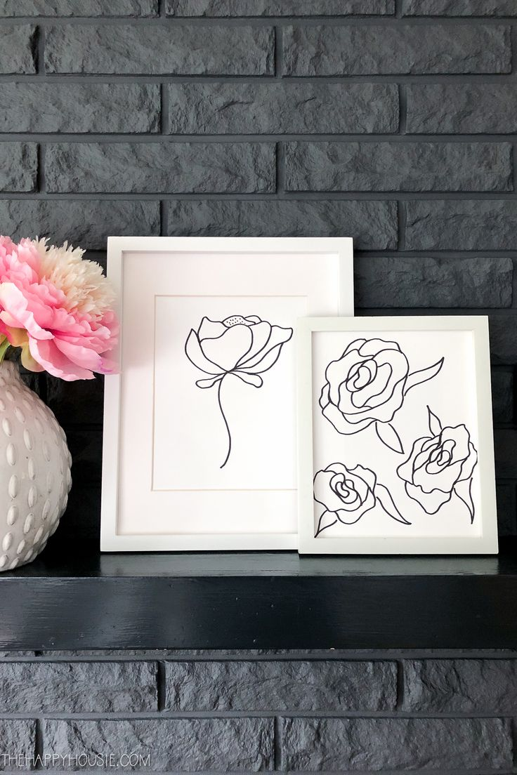 simple drawing line sharpie quirky easy peony thehappyhousie porch