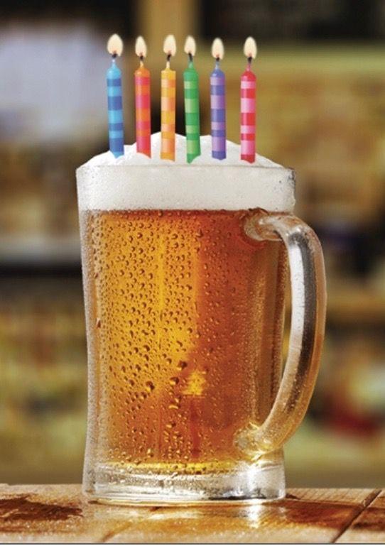 Картинки, открытка с пивом на день рождения