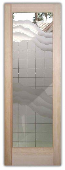 This Glass Door Is Hand Crafted Sandblast Frosted And 3d Carved With Available As An Interior