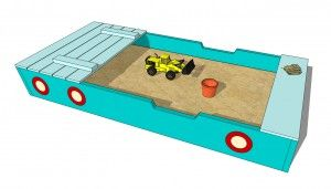 25 best ideas about wooden sandbox on pinterest diy for Sandbox with built in seats plans