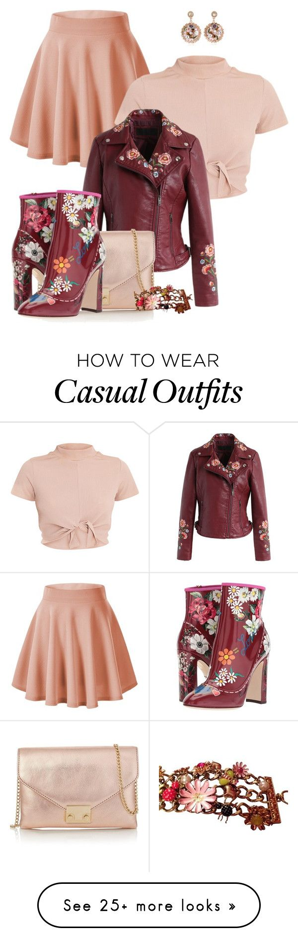 """SHAUNSLAYED by ShaunSlay"" by shaunslay on Polyvore featuring Chicwish, Betsey Johnson, Loeffler Randall and Dolce&Gabbana"