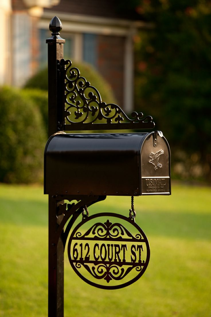 Mailboxes and Posts- http://alabamametalart.com/products/personalized-decorative-mailbox-2IN-DT-1sHS.php