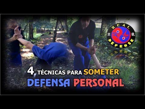 4 Técnicas para SOMETER a un oponente en la DEFENSA PERSONAL - YouTube